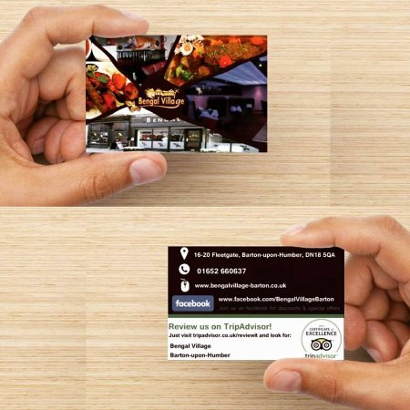 Business cards picture of bengal village barton upon humber bengal village business cards reheart Gallery