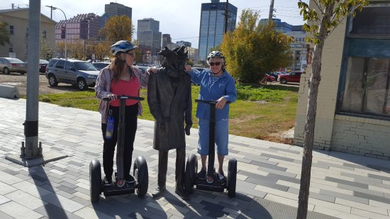 River Valley Adventure - Segway Tours: One of the statues on 96 Street.