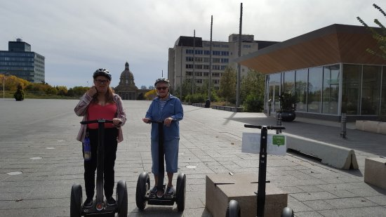 River Valley Adventure - Segway Tours: As close as we were allowed (so far) to get to the leg building.