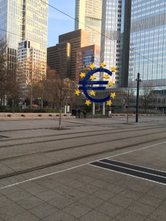 The Iconic Euro Symbol In The Middle Of Frankfurt Picture Of
