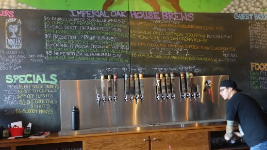 Imperial Oak Brewing : Get a Growler to Go
