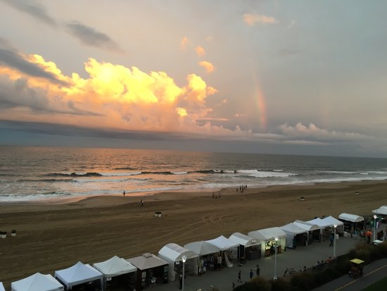 The Oceanfront Inn: View from the balcony.