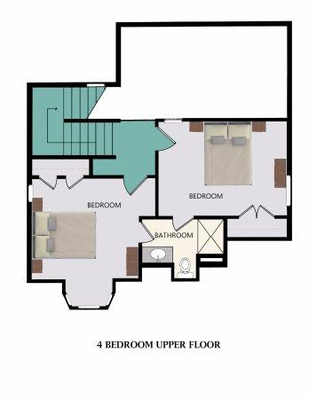 Stormy Point Village a Summerwinds Resort: Floor Plan for 4-Bedroom Upper Floor