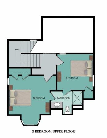 Stormy Point Village: Floor Plan for 3-Bedroom Upper Floor
