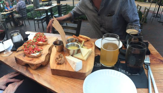 the mill watermelon bruschetta charcuterie 3 items and local beers
