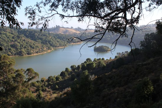 Castro Valley, CA: Anthony Chabot Reservoir from the campsite