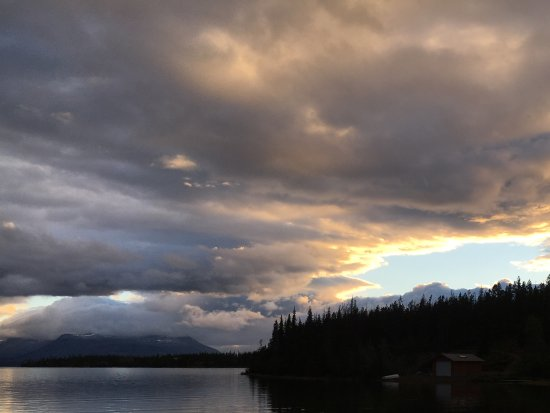 Nimpo Lake, Canada: Abendstimmung am See