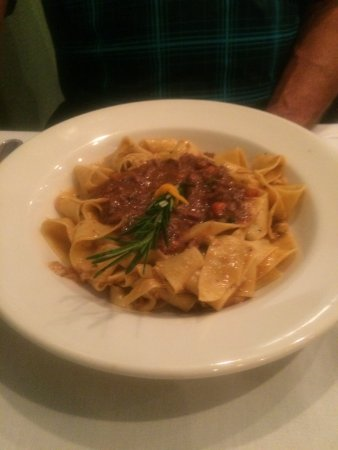 Bunnell, FL: Now THAT'S authentic boar ragu and pasta!
