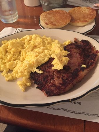 Rowley, MA: Scrambled eggs, Corned beef hash & Grilled english muffin