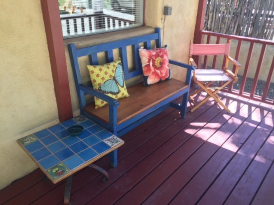 Taos Lodging Vacation Properties : Front porch of Casita #6