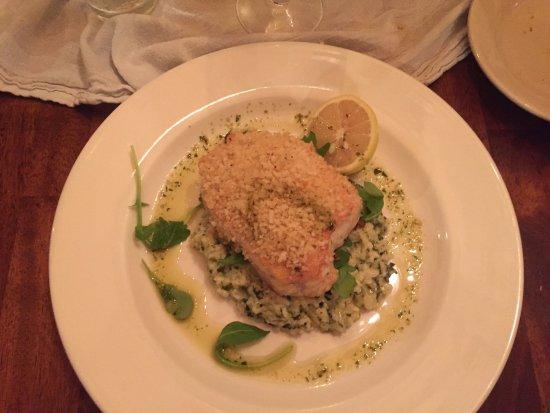Gulfport, FL: Swordfish on spinach soufle