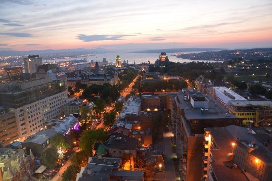 Hôtel Le Concorde Québec : View from our room