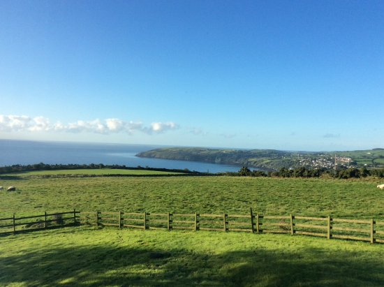 Laxey, UK: View from the bedroom Ballachrink farmhouse