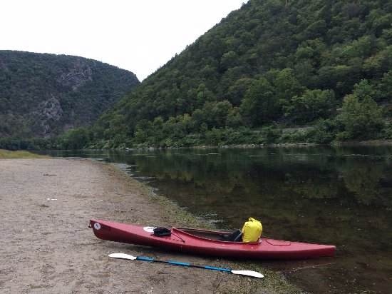 Dingmans Ferry, Pensilvanya: End of the trip at the Water Gap