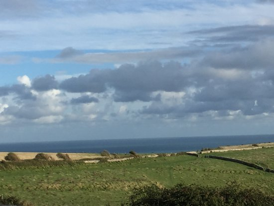 Worth Matravers, UK: The view from the pub