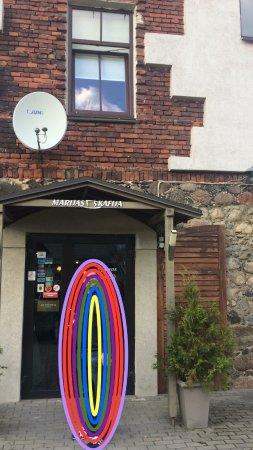Rezekne, Letonia: это маленькая фотография сделана при входе в кофейню Мариса в латгальском городе Резекне