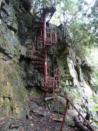 Wiarton, Canadá: Spiral Staircase At Spirit Rock Conservation Area.