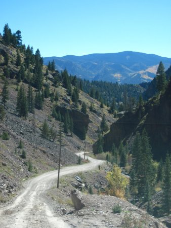 Creede, CO: Near the end is good time to check for oncoming traffic and shift into a low gear.
