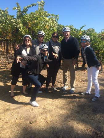 Sonoma Segway: Our fun tour group with Emily the best Tour Guide.