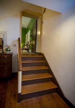 Chestertown, MD: Stairway from twin bedroom to sitting room in the T.W. Eliason Victorian Suite