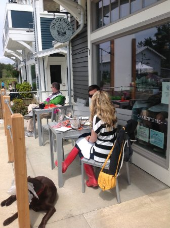 Pacific Beach, WA: outdoor seating for you and your furry friends!