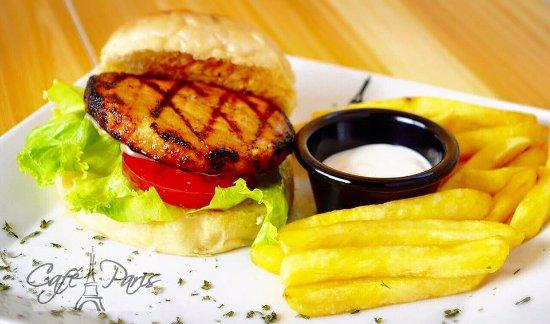 Jinotepe, นิการากัว: Salmon Burgers