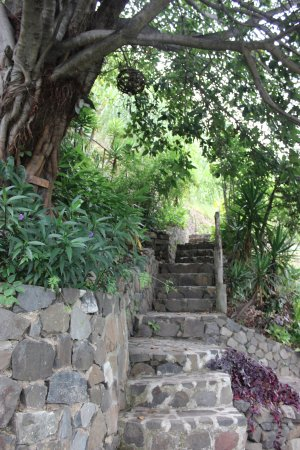 Lake Atitlan, Guatemala: Lots of stairs, this can be a great workout going up to the top and back down!