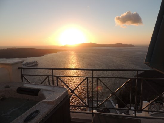 Villa Renos: Vista da varanda do quarto (sensacional!)