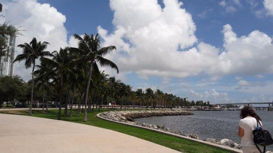 Bayfront Park: vista da baía