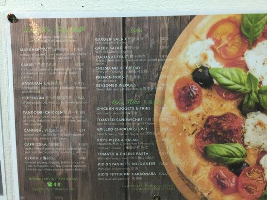 Mana Island Resort: Restaurant menus
