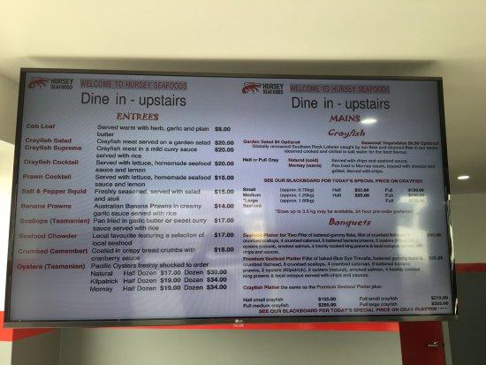 Stanley, Avustralya: Price List