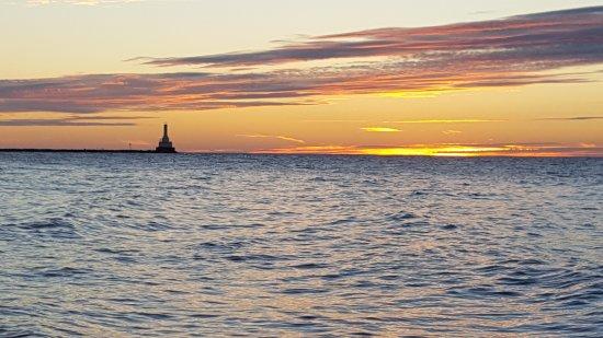 Hancock, MI: Sunset over Lake Superior