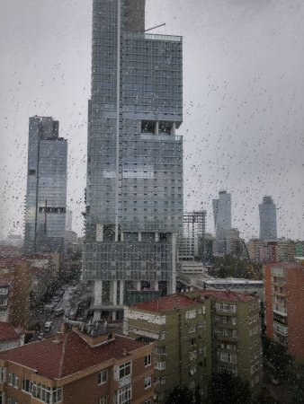 Surmeli Istanbul: view of our room in a rainy day