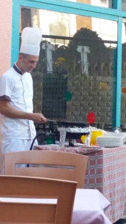 Park Side Hotel: Morgen omelet, med valgfrit fyld.