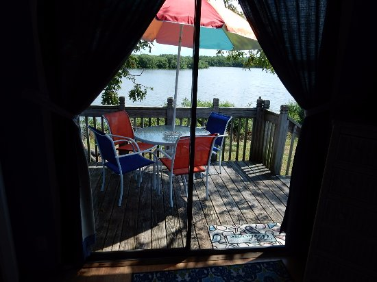 Pirates Cove Bayside Cottages: The view from the second bed room of Cottage #6