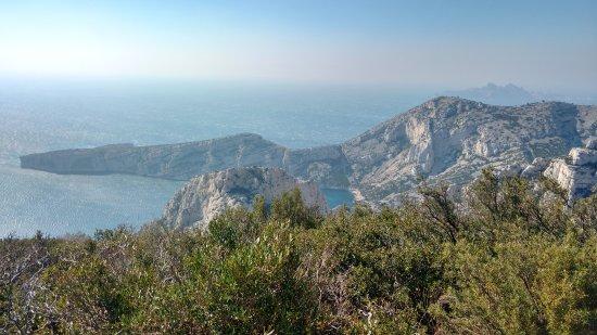 Calanque du Sugiton: O vento pode ser muito forte, mas a vista vale a pena