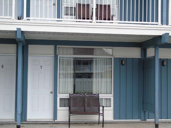 Carleton-sur-Mer, Canada: vu de notre chambre côté motel