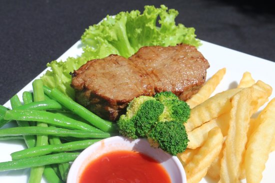 Mr Grill Restaurant: Mr.Grilled Steak with French Fries