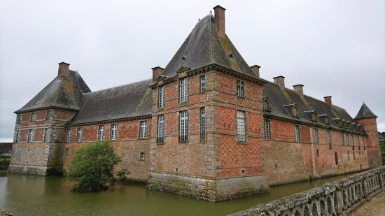Château de Carrouges surrounded by moats