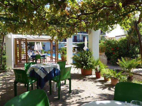 Hotel La Playa: Pergola bag poolen