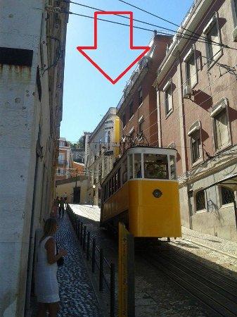 Turim Restauradores Hotel: Het hotel ligt op een hoek van dit straatje, goed kijken, dus!