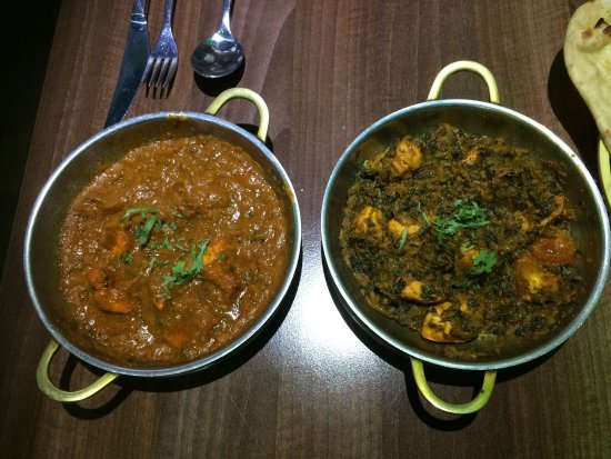 Tiffu's: Chicken Pakora  Chicken Balti & Chicken Sagwala  Really nice 👍
