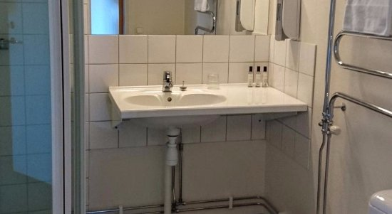 Boden, Swedia: Badrum med dusch
