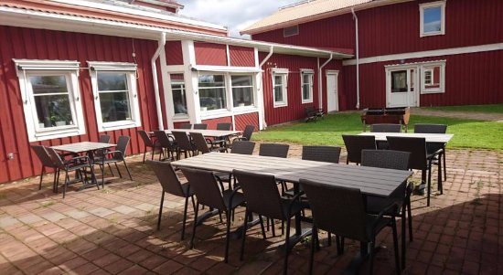 Boden, Swedia: Uteplats vid cafét