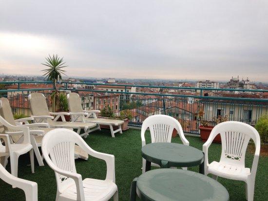 Hotel Ariston: Terrass på våning 5