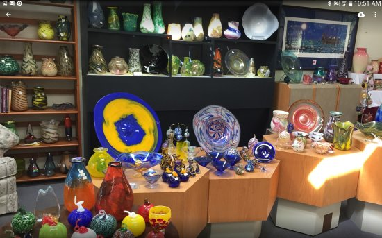 Buckhannon, WV: Glass art you can purchase in the shop