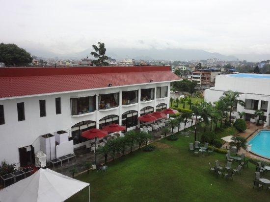 Hotel Himalaya: view from 4th floor towards NE