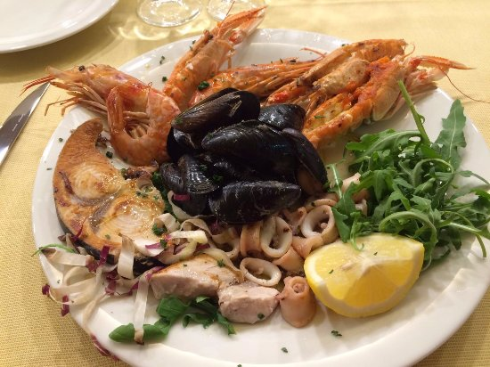 Medolago, Italia: secondo piatto di mare
