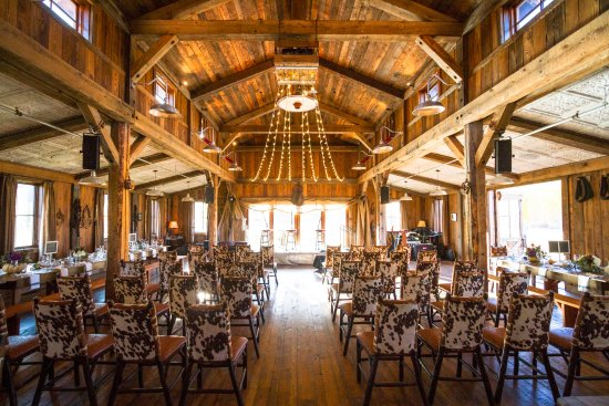 The Ranch at Rock Creek: The Buckle Barn: event space, meeting space and barn dance location.