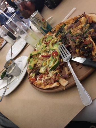 well prepared pizza